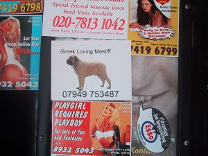 Greek Loving Mastiff prank card