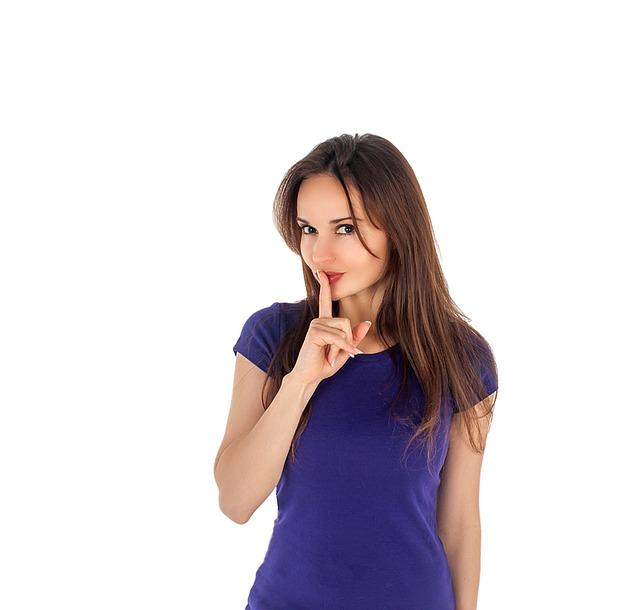 finger denotes silence