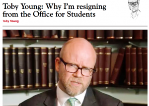 Toby Young resignation